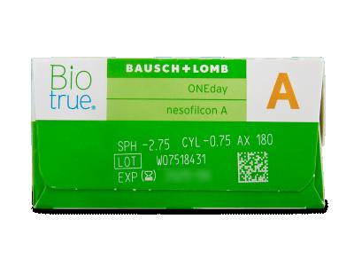 Biotrue ONEday for Astigmatism (30 leč) - Predogled lastnosti