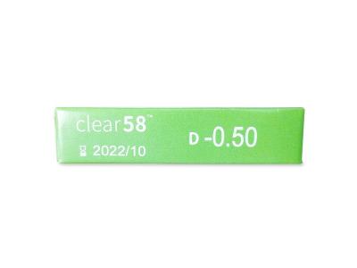 Clear 58 (6leč) - Predogled lastnosti