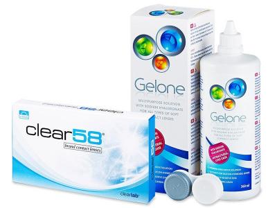 Clear 58 (6 leč) +tekočina Gelone 360 ml