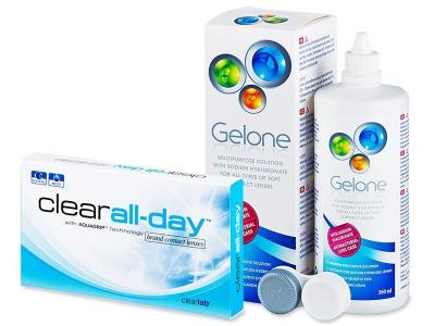 Clear All-Day (6 leč) +tekočinaGelone360 ml - Package deal