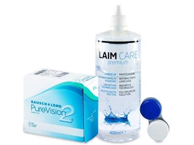 PureVision 2 (6 leč) + tekočina Laim-Care 400 ml
