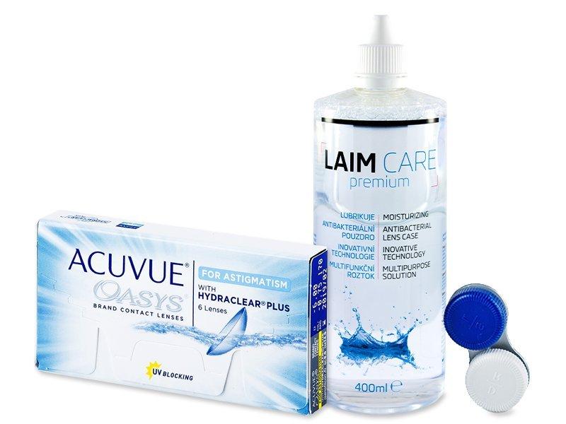 Acuvue Oasys for Astigmatism (6 leč) +tekočina LAIM-CARE400ml - Package deal