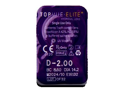 TopVue Elite+ (2x10 leč) - Predogled blister embalaže
