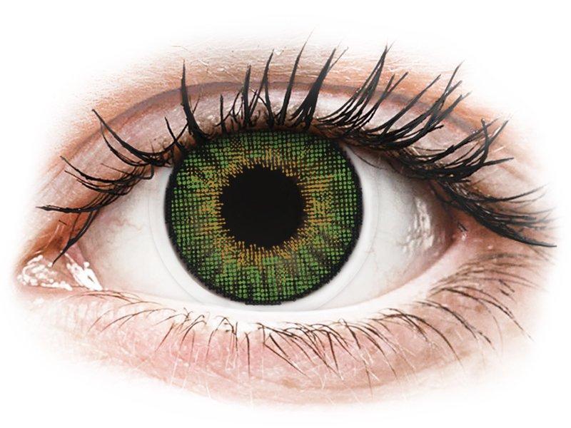 Air Optix Colors - Green - z dioptrijo (2 leči)