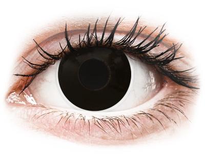 ColourVUE Crazy Lens - BlackOut - brez dioptrije (2 leči)