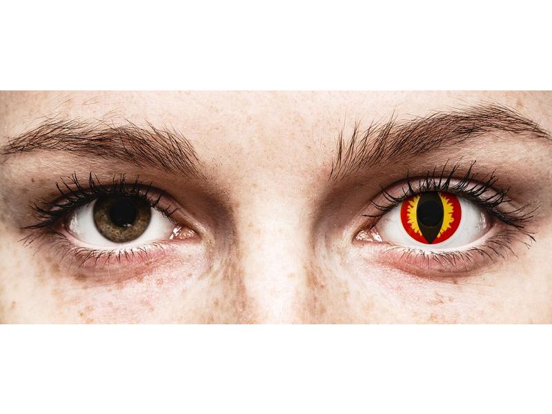 ColourVUE Crazy Lens - Dragon Eyes - brez dioptrije (2 leči)