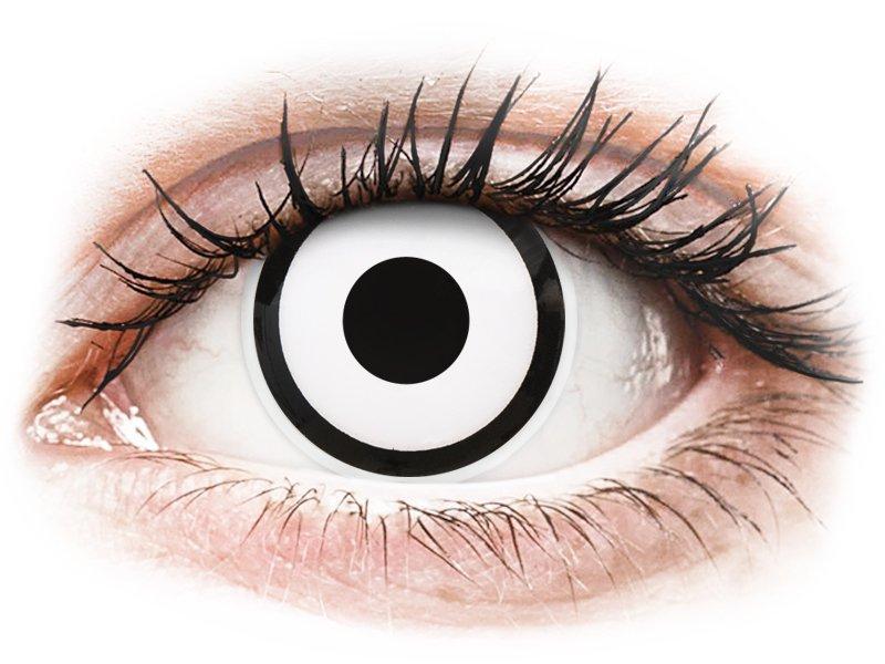 ColourVUE Crazy Lens - White Zombie - brez dioptrije (2 leči)