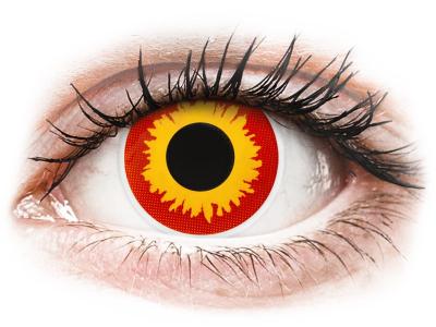 ColourVUE Crazy Lens - Wildfire - brez dioptrije (2 leči)