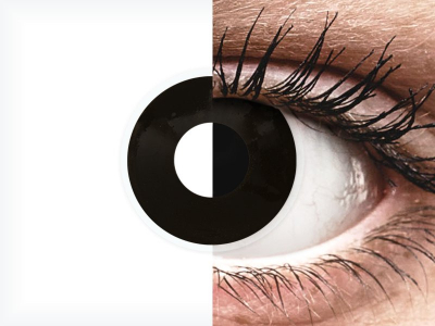 ColourVUE Crazy Lens - BlackOut - z dioptrijo (2 leči)