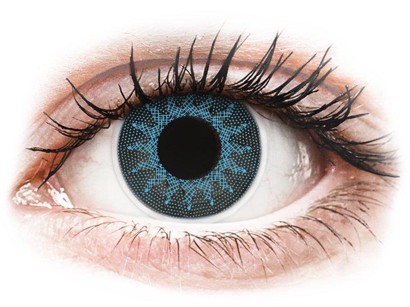 ColourVUE Crazy Lens - Solar Blue - z dioptrijo (2 leči) - Barvne kontaktne leče