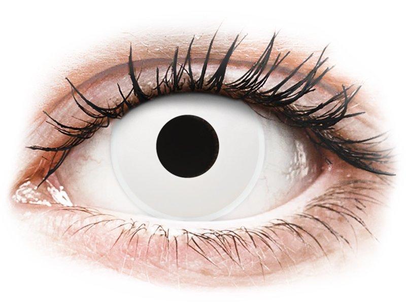 ColourVUE Crazy Lens - WhiteOut - z dioptrijo (2 leči) - Barvne kontaktne leče