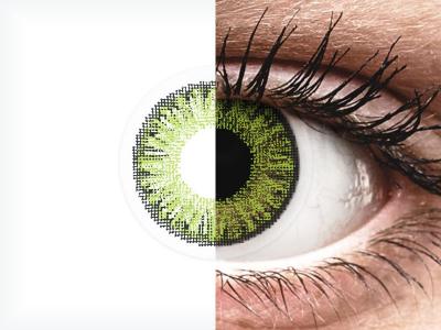 TopVue Color daily - Fresh green - z dioptrijo (10 leč)