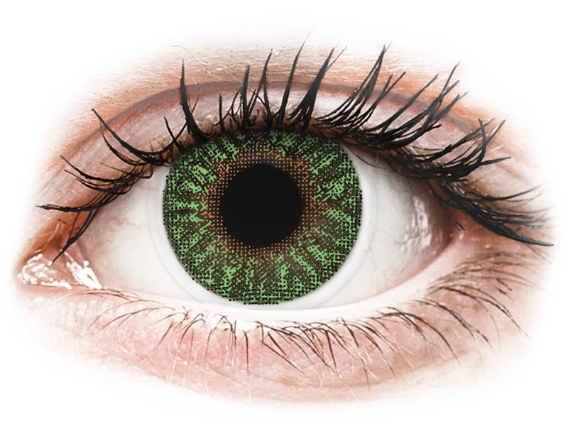 TopVue Color - Green - z dioptrijo (2 leči) - Barvne kontaktne leče