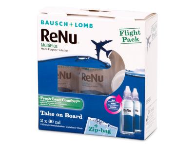 ReNu Multiplus flight pack 2 x 60 ml  - Starejši dizajn