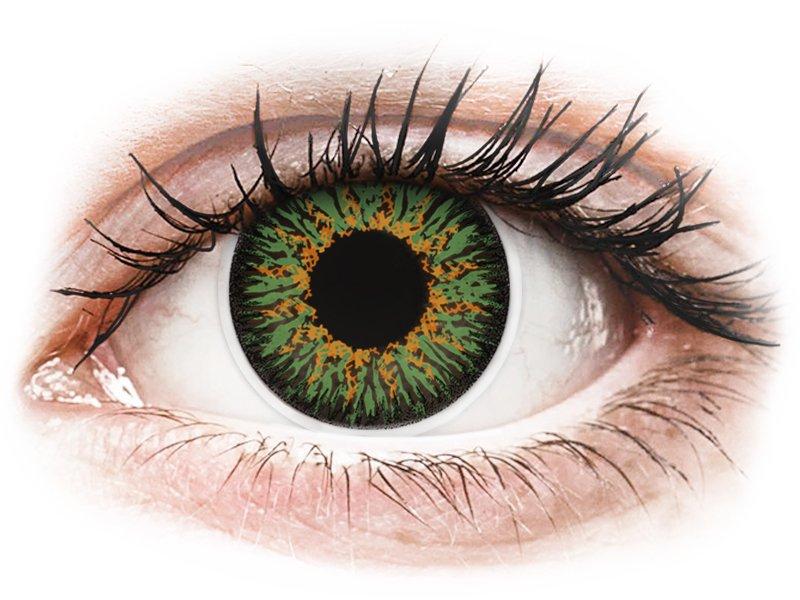 ColourVUE Glamour Green - brez dioptrije (2 leči) - Barvne kontaktne leče