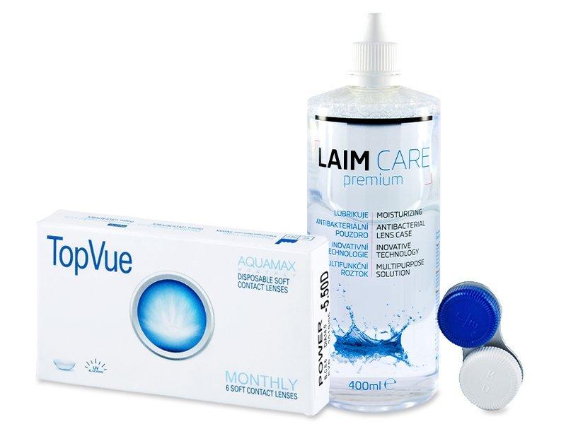 TopVue Monthly (6leč) + tekočina Laim-Care 400 ml - Package deal