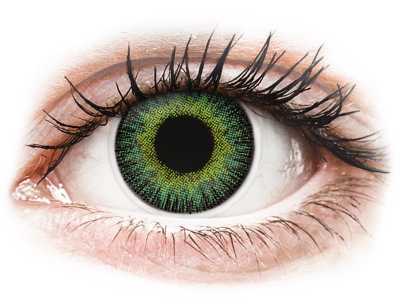 ColourVUE Fusion Green Yellow - brez dioptrije (2 leči)