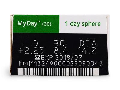 MyDay daily disposable (30leč) - Predogled lastnosti