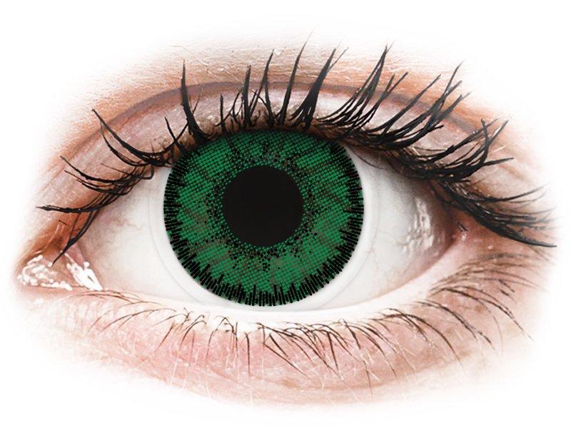 SofLens Natural Colors Emerald - z dioptrijo (2 leči) - Barvne kontaktne leče