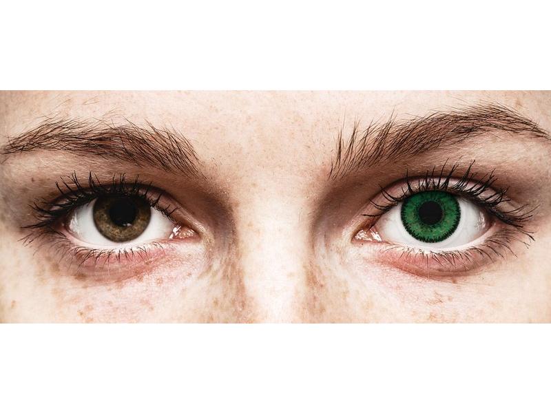 SofLens Natural Colors Emerald - brez dioptrije (2 leči)