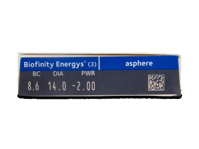 Biofinity Energys (3 leče) - Predogled lastnosti