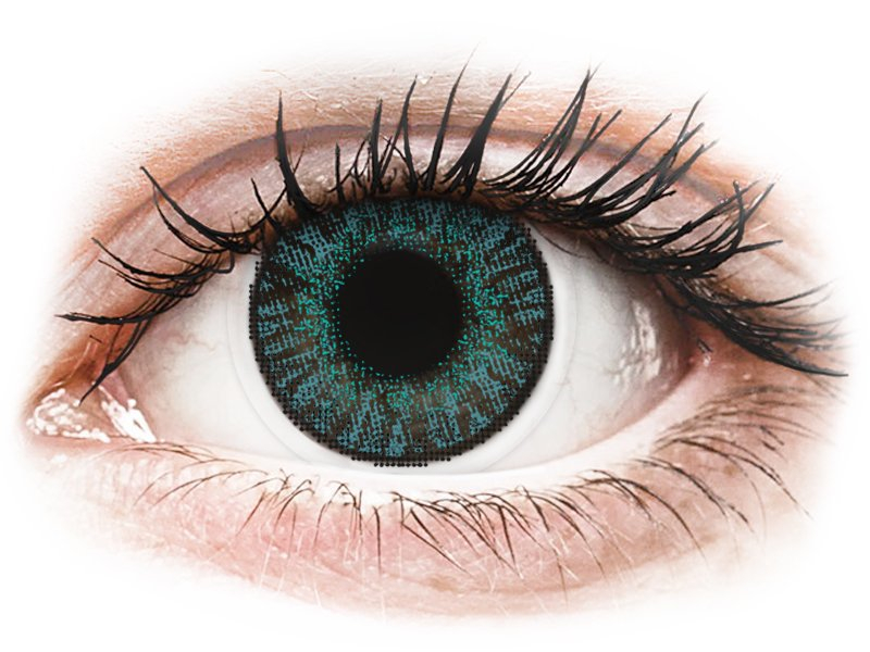 FreshLook ColorBlends Brilliant Blue - z dioptrijo (2 leči) - Barvne kontaktne leče