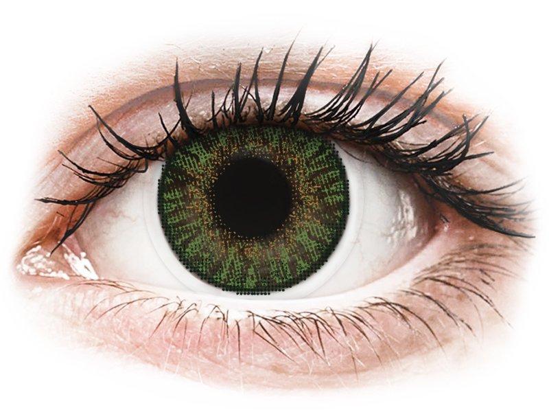 FreshLook ColorBlends Gemstone Green - z dioptrijo (2 leči) - Barvne kontaktne leče