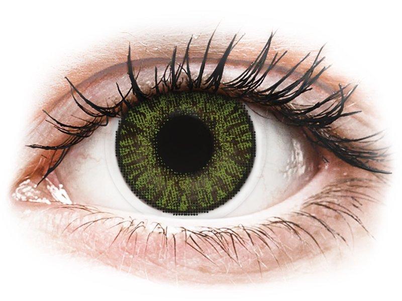 FreshLook ColorBlends Green - z dioptrijo (2 leči) - Barvne kontaktne leče