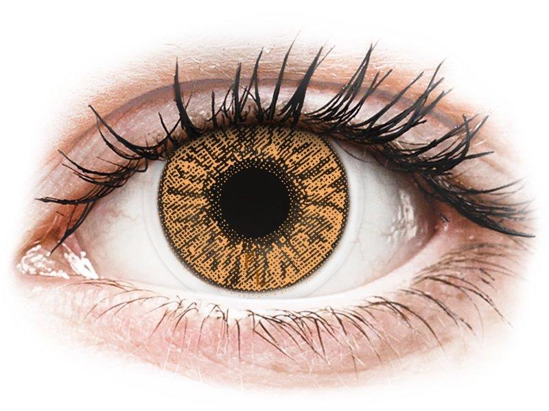FreshLook Colors Hazel - z dioptrijo (2 leči) - Barvne kontaktne leče