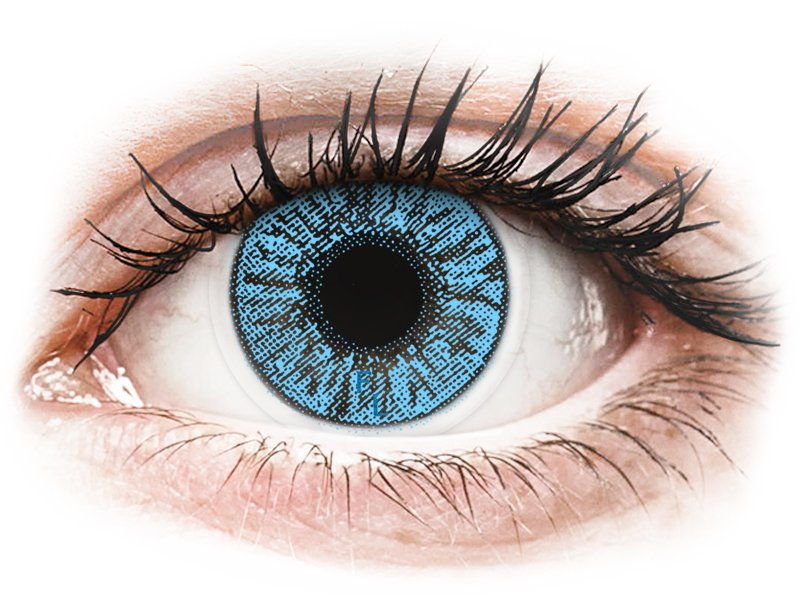 FreshLook Colors Sapphire Blue - z dioptrijo (2 leči) - Barvne kontaktne leče