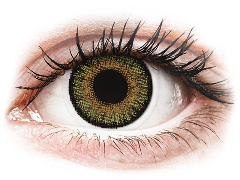 FreshLook One Day Color Pure Hazel - z dioptrijo (10 leč) - Barvne kontaktne leče