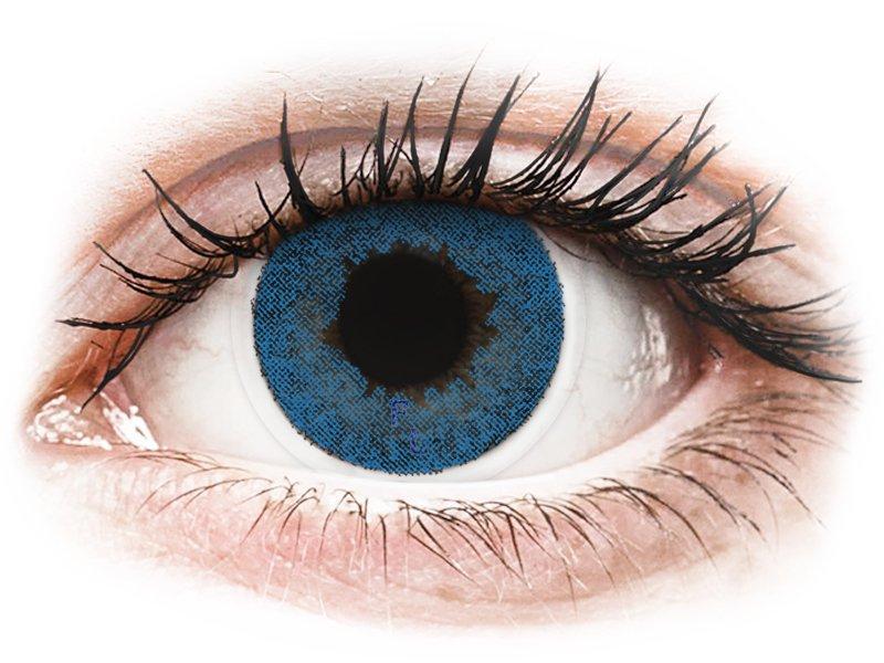 FreshLook Dimensions Pacific Blue - z dioptrijo (6 leč) - Barvne kontaktne leče