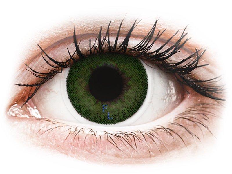 FreshLook Dimensions Sea Green - z dioptrijo (6 leč) - Barvne kontaktne leče