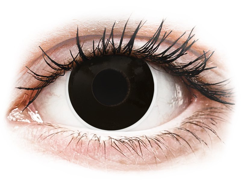 ColourVUE Crazy Lens - Blackout - dnevne leče brez dioptrije (2 leči)