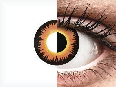 ColourVUE Crazy Lens - Orange Werewolf - dnevne leče brez dioptrije (2 leči)