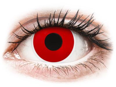 ColourVUE Crazy Lens - Red Devil - dnevne leče brez dioptrije (2 leči)
