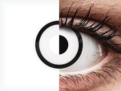 ColourVUE Crazy Lens - White Zombie - dnevne leče brez dioptrije (2 leči)