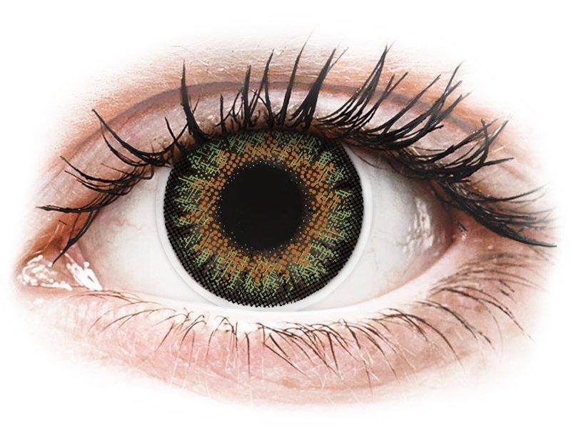 ColourVue One Day TruBlends Green - z dioptrijo (10 leč)