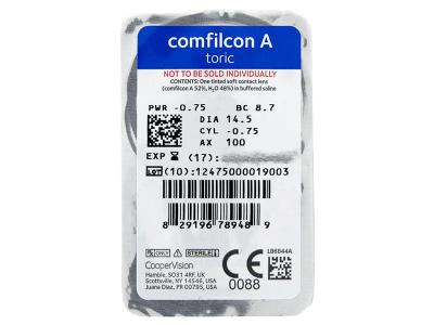 Biofinity Toric (6 leč) - Predogled blister embalaže
