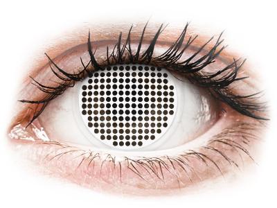 ColourVUE Crazy Lens - White Screen - brez dioptrije (2 leči)