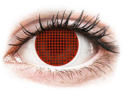 ColourVUE Crazy Lens - Red Screen - brez dioptrije (2 leči)