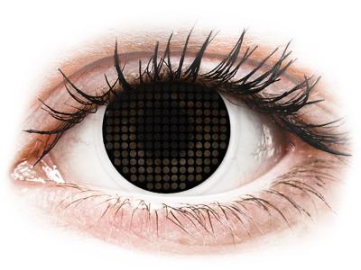 ColourVUE Crazy Lens - Black Screen - brez dioptrije (2 leči)