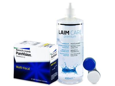 PureVision Multi-Focal (6 leč) + tekočina Laim-Care 400 ml