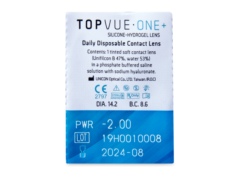 TopVue One+ (5 leč) - Predogled blister embalaže