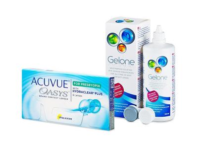 Acuvue Oasys for Presbyopia (6 leč) + tekočina Gelone 360 ml