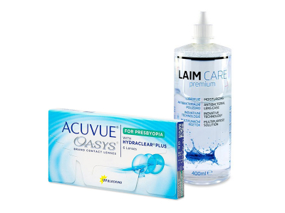 Acuvue Oasys for Presbyopia (6 leč) + tekočina Laim-Care 400 ml