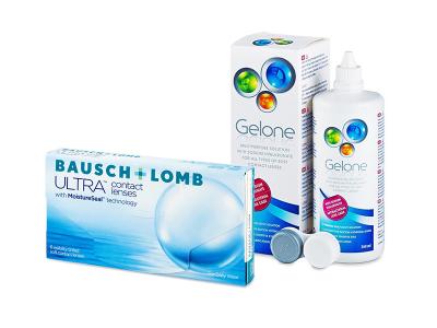 Bausch + Lomb ULTRA (6 leč) + tekočina Gelone 360 ml