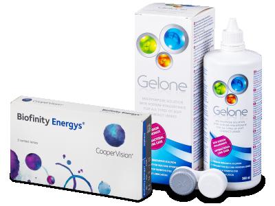 Biofinity Energys (3 leče) + tekočina Gelone 360 ml