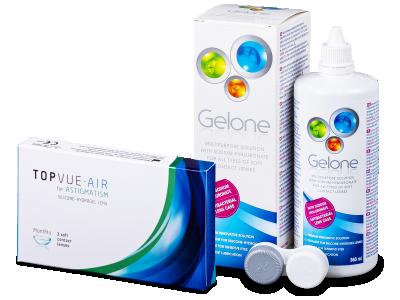 TopVue Air for Astigmatism (3leče) + tekočina Gelone 360ml