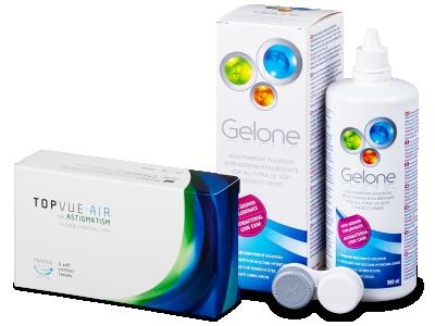 TopVue Air for Astigmatism (6leč) + tekočina Gelone 360 ml